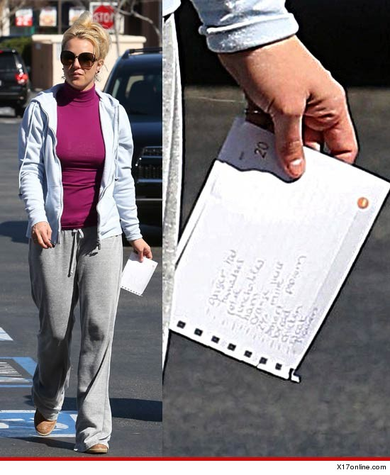 0218 britney spears x17 3 Social Media Goes Wild For Britney Spears Leaked Grocery List