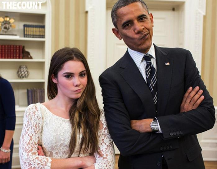 1117 mckayla maroney barack obama 2 STILL NOT IMPRESSED? Obama And McKayla Maroney Odyssey Continues