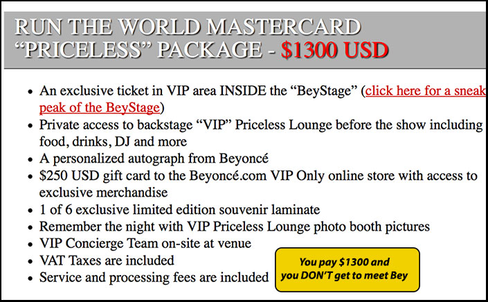 136017279423496f9db9 Beyoncé Leaked Tour Priceless Ticket $1300 EACH!