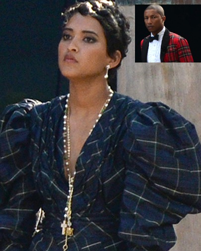 138166964621086048576941 Pharrell NEW BRIDE FURIOUS! After Forced To Wear PLAID WEDDING DRESS