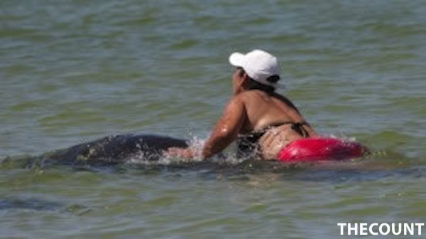 19726355 BG1 Woman Who Tried To Ride Manatee In Hot Water