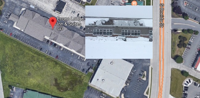 roof collapses over pool at wi econo lodge inn suites on. Black Bedroom Furniture Sets. Home Design Ideas