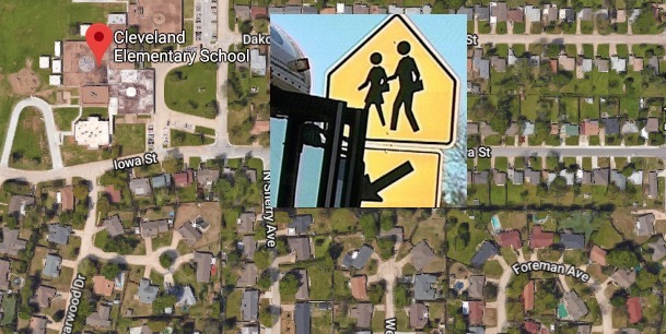 Norman Ok Cleveland Elementary School Bus Carrying Girls