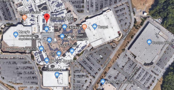 Christiana Mall Map on