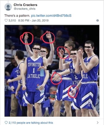 Sorry Twitter That S Not A Quot White Power Quot Hand Sign The Covington Catholic Hs Kids Are Flashing