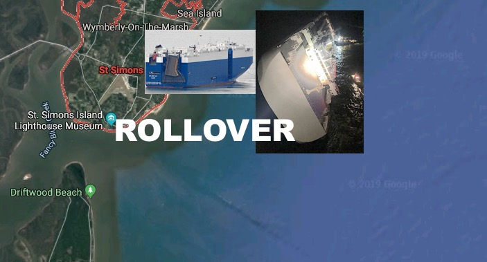 Rollover' Forces GA Evacuations Of Cargo Ship Golden Ray