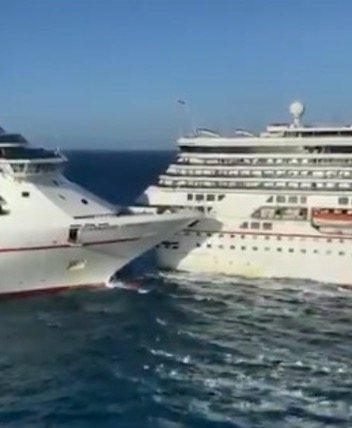 'Major Damage' After Carnival Glory Crashes Into Carnival ...