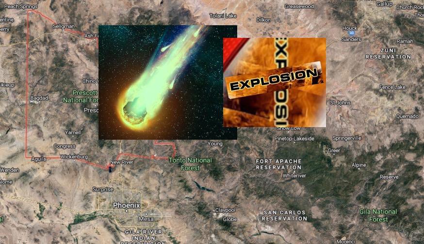 Massive AZ Explosion Heard After 'Green Meteor' Seen Streaking