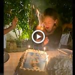 'That's Hot!' Nicole Richie Hair Lights On Fire Blowing Out 40th Birthday Candles VIDEO