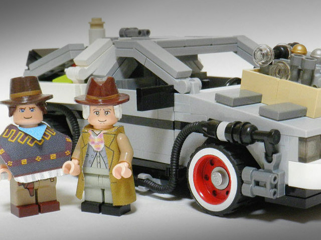 238400 Back To The Future Delorean Gets Lego Makeover