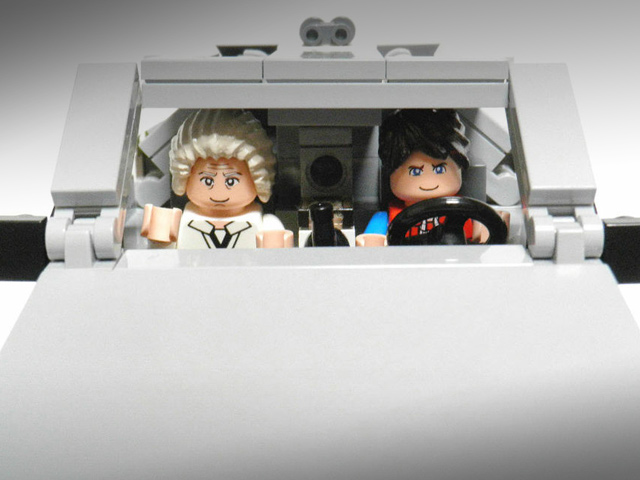 238401 Back To The Future Delorean Gets Lego Makeover