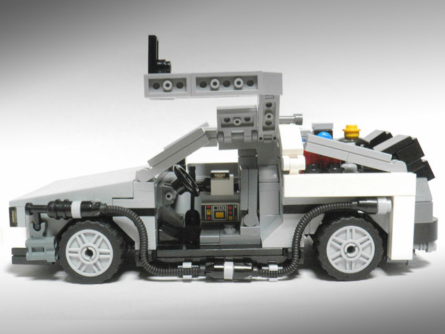 238402 Back To The Future Delorean Gets Lego Makeover