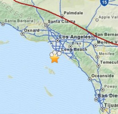 3.3 Earthquakes Strikes San Pedro California
