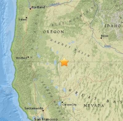 4.6 Earthquake ROCKS Oregon