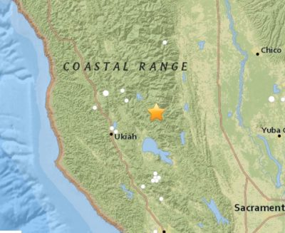 5.1 Earthquake Northern California