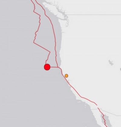 5.5 Earthquake Strikes Off Coast Of Northern California