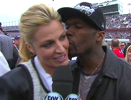 50 cent erin andrews kiss1 ESPN Erin Andrews Owns Up To Awkward 50 Cent Kiss MY BAD!