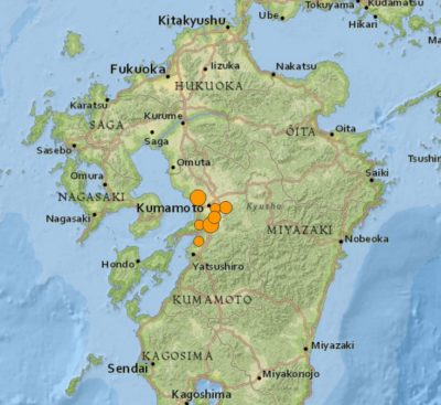6 2 earthquake japan thursday 400x367 Houses Collapse People Trapped As 6.2 Earthquake Strikes Japan