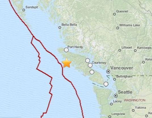 6.7 quake canada 6.7 Earthquake ROCKS Canada