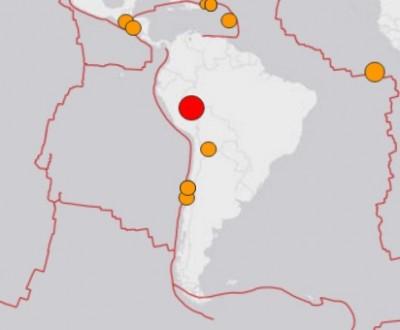 6.9 earthquake peru 400x330 Powerful 7.5 Earthquake Strikes Peru
