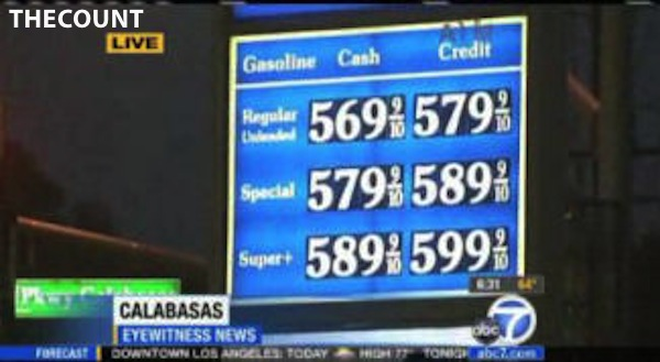 6 California Gas Hits $6.00 A Gallon