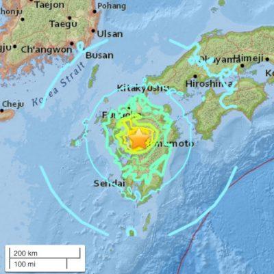 7 earthquake japan 2016 400x401 7.0 Earthquake Strikes Japan Tsunami Advisory Issued