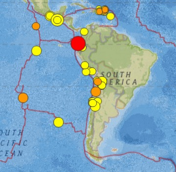 7.4 Earthquake Strikes Ecuador 2-16