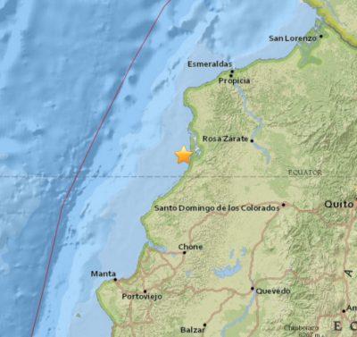 7.4 Earthquake Strikes Ecuador 2016