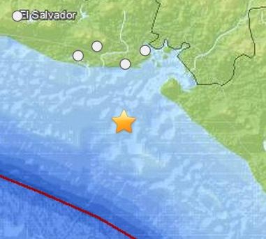 7.4 Earthquake Strikes Offshore EL SALVADOR