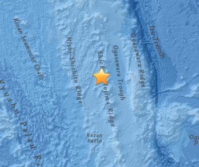 7.8 Earthquake Strikes 189km WNW of Chichi-shima, Japan