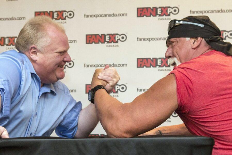 8c0fce1d60814f1c3b0f6a70670010d9 HULK HOGAN LOSES Arm Wrestling Match Against TORONTO MAYOR!!!