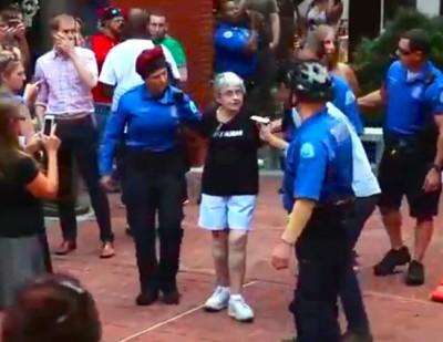 90 year old woman arrested ferguson