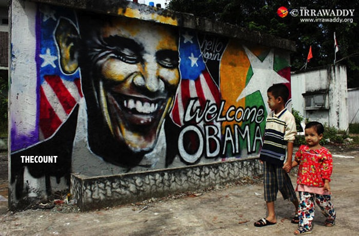 A8CqWt5CAAELGbp Obama CREEPY JOKER Burma Mural