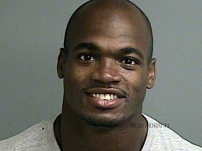 Adrian Peterson switch mug shot