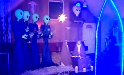 Alien Nativity Scene