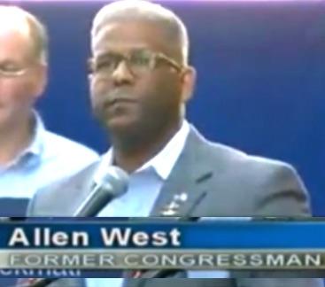 Allen West iran deal speech Time Square