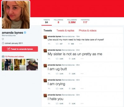 Amanda Bynes Currently Going CRAZY On Twitter