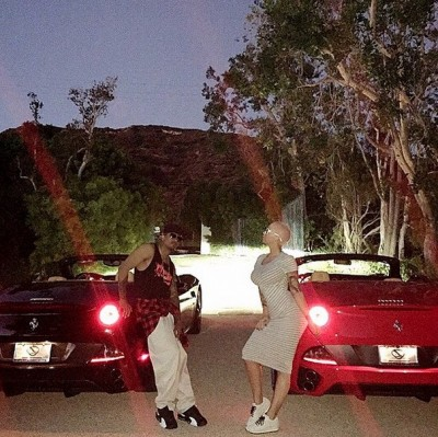 Amber Rose Nick Cannon Buy MATCHING FERRARIS