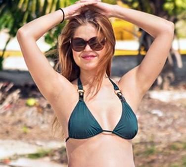 Anna Trebunskaya Debuts Pregnant Bikini
