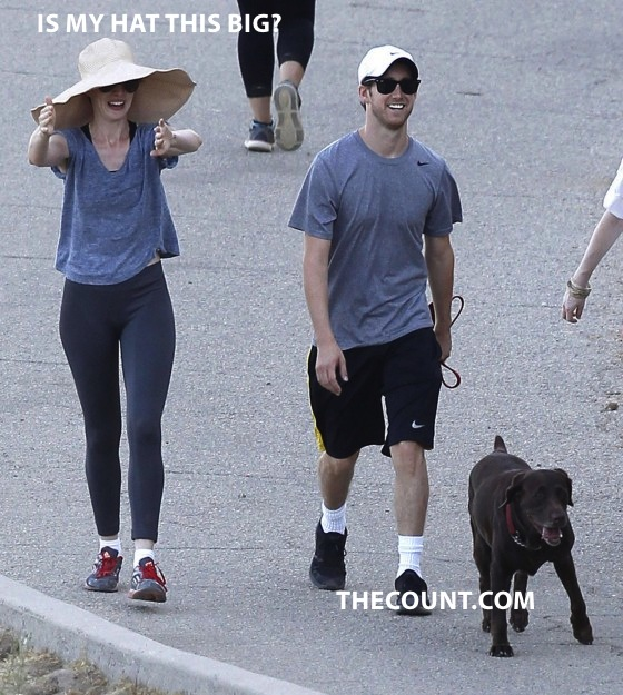 Anne Hathaway HIDING in Worlds BIGGEST Hat