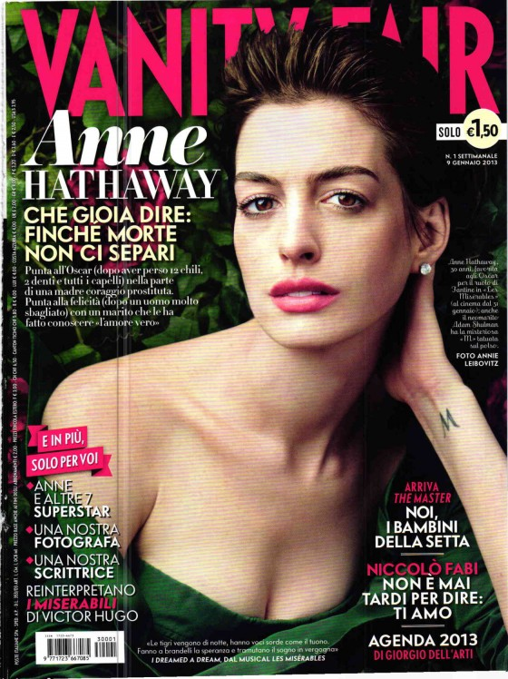 Anne Hathaway in Vanity Fair 05 560x748 Anne Hathaway The Joker In Vanity Fair?