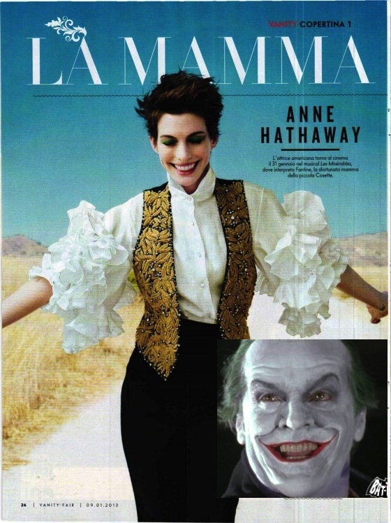 Anne Hathaway in Vanity Fair 09 560x749 Anne Hathaway The Joker In Vanity Fair?