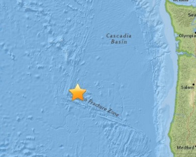 Another Quake Strike Off Coast Of OREGON 5.9 Magnitude 2