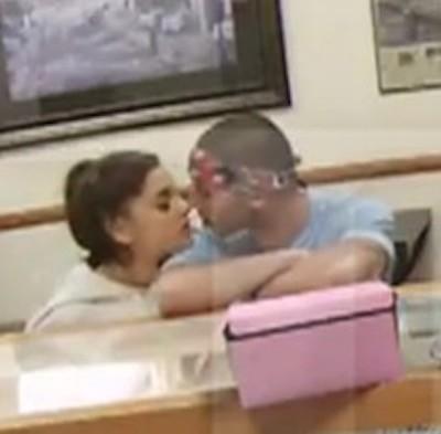 Ariana Grande Ricky Alvarez kissing