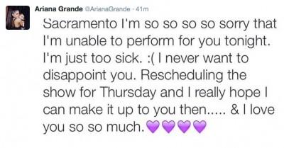 Ariana Grande Sacramento concert canceled 3