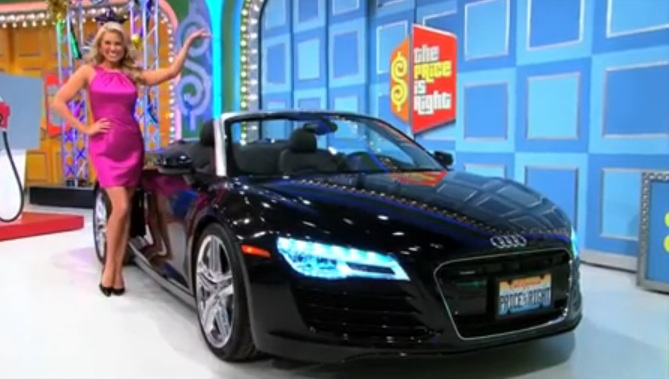 Audi R8 V8 Spyder Quattro S Tronic price is right2 Woman Wins AUDI R8 Spyder On THE PRICE IS RIGHT