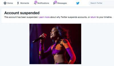 Azealia Banks twitter suspended