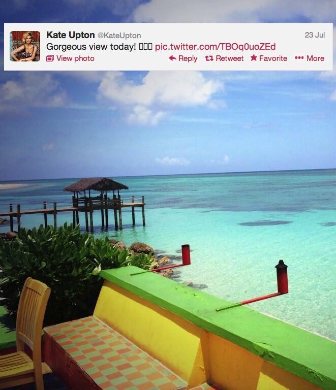 BP30ZpTCMAABe9D1 Kate Upton Posts Gorgeous View Photo On Twitter