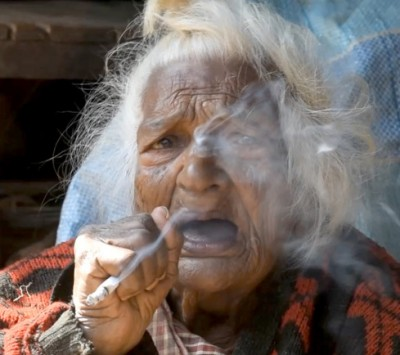 Batuli Lamichhane smoking
