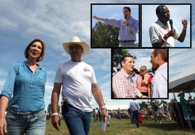 Ben Carson, Ted Cruz, Carly Fiorina Scott Walker Basque Fry